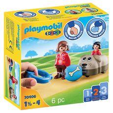 PLAYMOBIL 70406 - 1.2.3 - Wagon chien