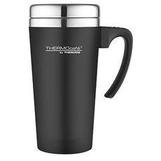 Thermos mug de voyage avec anse 420 ml noire