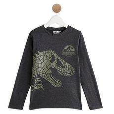 JURASSIC PARK T-shirt manches longues garçon (Gris anthracite)
