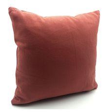 TODAY Coussin déhoussable en coton 145 g/m2 1 face unie 1 face motif géométrique TERRA ROSA