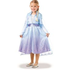 RUBIES Panoplie déguisement + tresse Elsa taille 5/6 ans - La reine des neiges