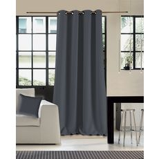 Rideau occultant double face en polyester (Anthracite)
