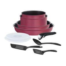 TEFAL Batterie de cuisine induction 10 pièces PERFORMANCE ROUGE GAMAY ingenio