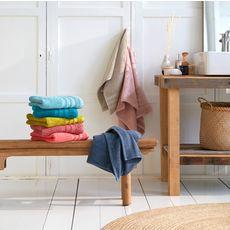 ACTUEL Serviette de toilette unie en coton  500 g/m²