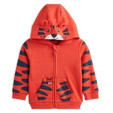 IN EXTENSO Sweat zippé à capuche tigre bébé garçon
