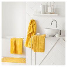 TODAY Tapis de bain uni en polyester 1500G/M²  BUBBLE (Jaune)