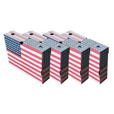 Lot de 4 boites archive USA