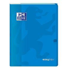 OXFORD Cahier piqué polypro 24x32cm 96 pages grands carreaux Seyes Easybook bleu