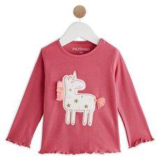 IN EXTENSO T-shirt manches longues licorne bébé fille