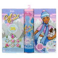 MATTEL Barbie - Calendrier de l'Avent Color Reveal + poupée