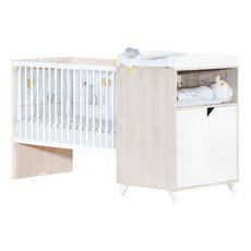 BABY PRICE  Lit bébé combiné 120x60 évolutif en 90x190cm SCANDI,  coloris naturel