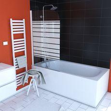Aurlane Pare baignoire réversible Easy Emily - 130 x 80