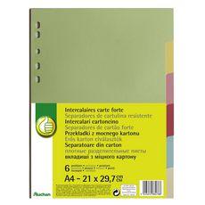 POUCE Lot de 6 A4 carte forte coloris assortis