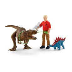 Schleich Attaque Tyrannosaure Rex Dinosaurs