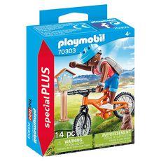 PLAYMOBIL 70303 - Spécial Plus - Cycliste avec marmotte