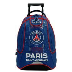 PSG Sac à dos à roulettes bleu et rouge PARIS SAINT GERMAIN