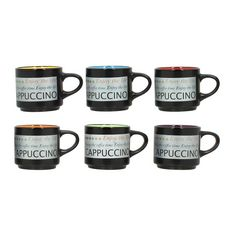 Lot de 6 tasses à café 24 cl FORUM Assortis