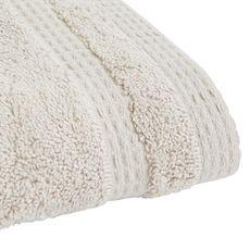 ACTUEL Serviette invitée unie en coton bio organique 540 gr/m2 (Gris clair)