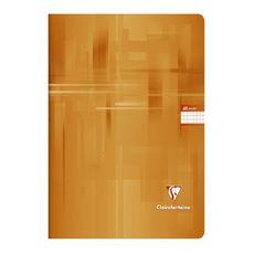 CLAIREFONTAINE Cahier piqué 24x32cm 48 pages petits carreaux 5x5 orange