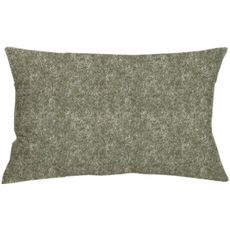 Coussin uni en polyester effet feutre (Vert)