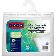 DODO Protège oreiller absorbant en polycoton anti-acariens MILLE ET UNE NUITS DE CONFORT