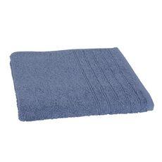 Drap de bain uni en coton 450gr/m² ALIX (Bleu )
