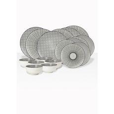 ARD TIME Service d'assiettes 18 pièces KOMAE porcelaine