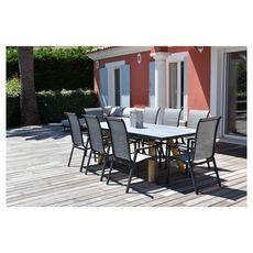 Givex Salon repas de jardin extensible 180/240x100 cm LILI