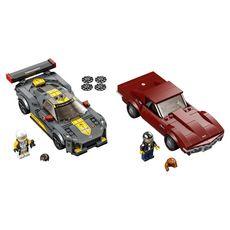 LEGO Speed Champions 76903 - Chevrolet Corvette C8.R Race Car et 1968 Chevrolet Corvette dès 8 ans