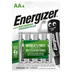 Energizer Piles LR06/AA power plus rechargeables 1,2v 2000 4 pièces