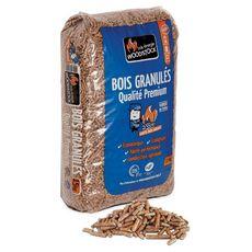 WOODSTOCK Pellets granulés de bois 100% naturel premium NF din+ 15kg