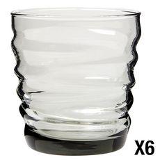BORMIOLI ROCCO Set de 6 verres à eau RIFLESSI ACQUA Light Onyx