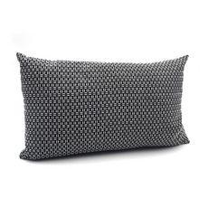 TODAY Coussin fantaisie déhoussable rectangulaire en coton 145 g/m2 double face imprimé géométrique TERRA ROSA