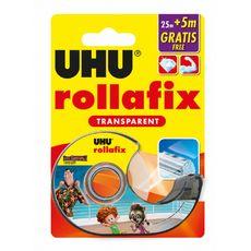 Dévidoir avec rouleau Rollafix transparent 25m + 5m gratuits