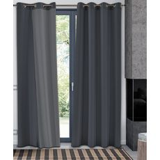 Rideau occultant thermique en polyester (Anthracite)