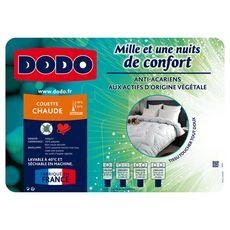 DODO Couette chaude en microfibre anti-acariens MILLE ET UNE NUITS (Blanc)