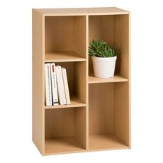 Rangement bibliothèque 3 étagères BROK
