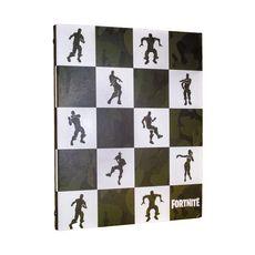 Classeur rigide Fortnite carreaux blancs et camouflage kaki