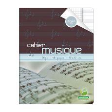 AUCHAN Cahier de musique 21x29,7cm 48 pages grands carreaux Seyes