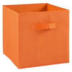 Tiroir boîte en tissu et carton BRIK, 12 coloris (Orange)