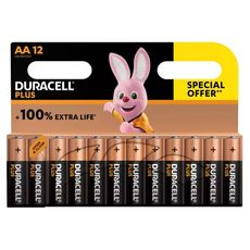 DURACELL Lot 12 piles Plus type AA