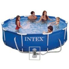 INTEX Kit piscine tubulaire ronde 3,66 x  0,76 m - Metal Frame