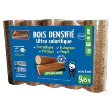 WOODSTOCK Bûches bois densifié ultra caloriques x5 5 bûches 9,65kg
