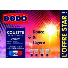 DODO Couette DODO Douce et Légère Les Estivales 200 gr/m2 (Blanc)