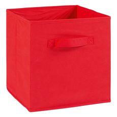Tiroir boîte en tissu et carton BRIK, 12 coloris (Rouge)