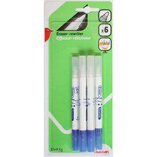 Lot de 6 minis stylos effaceurs réécriveurs pointe ogive