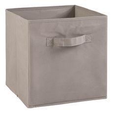 Tiroir boîte en tissu et carton BRIK, 12 coloris (Gris)
