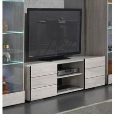Meuble TV 2 niches 2 portes L160cm ALBA