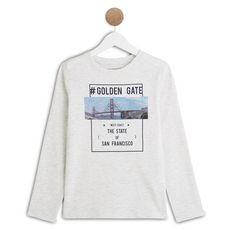 IN EXTENSO T-shirt manches longues garçon (Gris chiné)