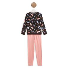 IN EXTENSO Ensemble pyjama velours papillons fille